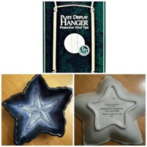 La Dolce Vita JA Designs Starfish Dish Blue Embossed Seashell Collection
